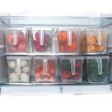 Contenedores de almacenamiento nevera caja de almacenamiento de alimentos contenedores con tapa para cocina gabinete de nevera congelador organizador de escritorio J05