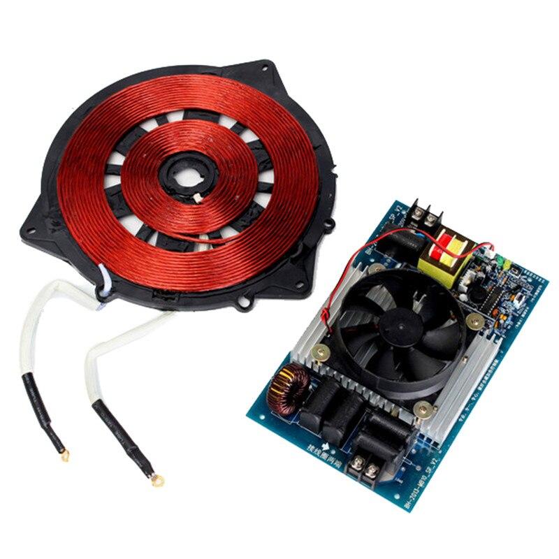 Aquecedor de indução 20-25khz de 220v 2500w com painel de controle de aquecimento magnético elétrico da bobina para o aparelho de cozinha parte brandnew