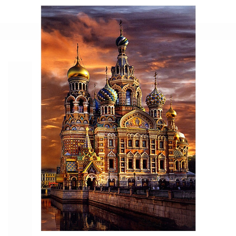Needlework,DIY DMC 14CT Unprinted Cross stitch,Sets For Embroidery kits, St. Petersburg  Counted Cross-Stitching,Wall Home Decro