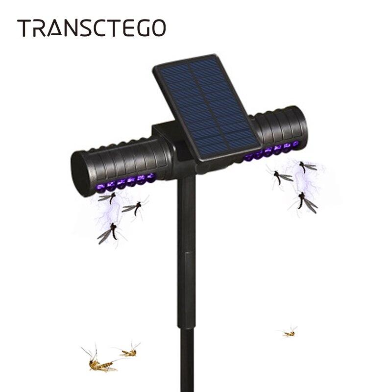 Уличная лампа убийца комаров на солнечной батарее Отпугиватель жуков