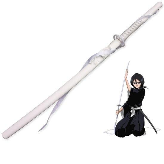 Épée Katana en bois blanc, accessoires pour fête de noël et nouvel an