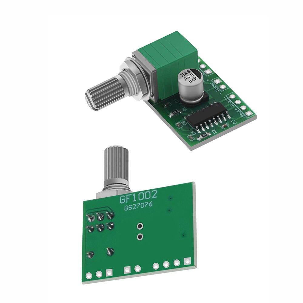 Mini PAM8403 DC 5V, 2 canales, USB, placa de amplificador de Audio Digital, Módulo 2*3W, Control de volumen con medidor de potencia