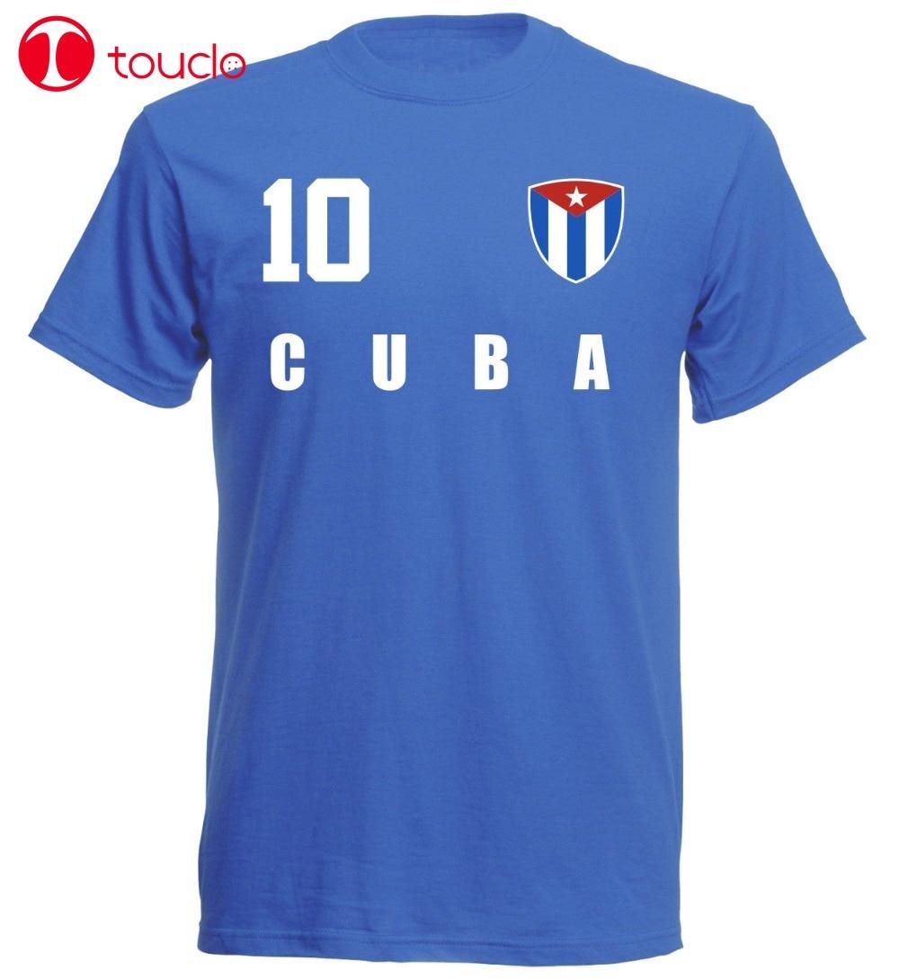 Camiseta de doble cara Kuba Cuba 2019 Blau Trikot Fubball Nr All 10 Sporter fútbol Soccers camiseta con capucha