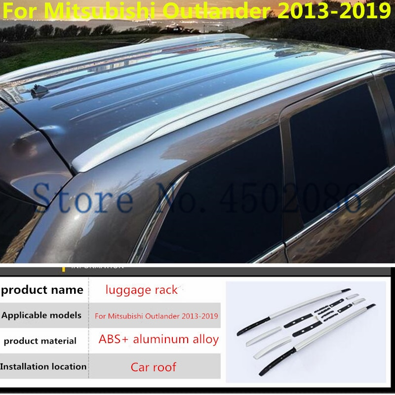 Configuração do carro retrofit de alta qualidade rack de bagagem rack de armazenamento do telhado acessórios modificação para mitsubishi outlander 2016-19