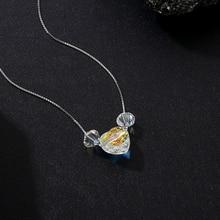 BAFFIN coloré perles collier pendentif coeur cristaux de Swarovski pour les femmes filles cadeaux argent couleur boîte chaîne bijoux dété