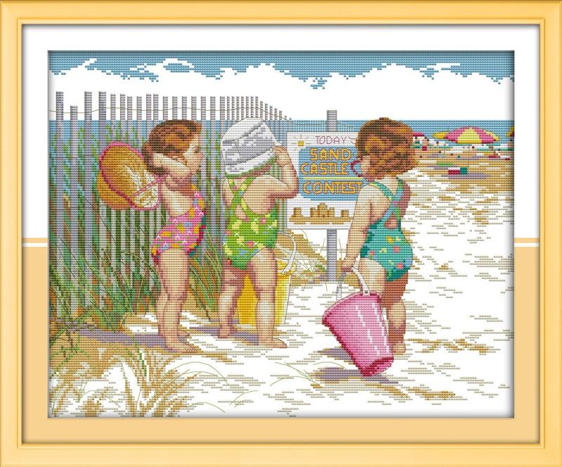 Набор для вышивки крестиком DMC, Набор для вышивки крестиком, для игры на пляж
