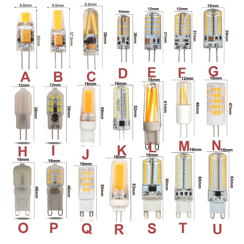 10PCS G4 G9 Led-lampe AC DC12V 110V 220V Dimmbar Warm Weiß Kühles Weiß Led Mais Lampe 3W 5W 6W 7W 9W Ersetzen für Halogenlampe