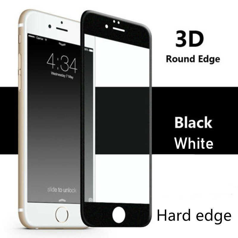 3D Curved Edge Full Cover Protective Glass For iphone 7 Plus Glass Film Tempered Glass On For iphone