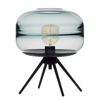 Modern American glass table lamp creative bedroom bedside lamp brown blue gray glass shade lamp iron bracket reading desk lamp
