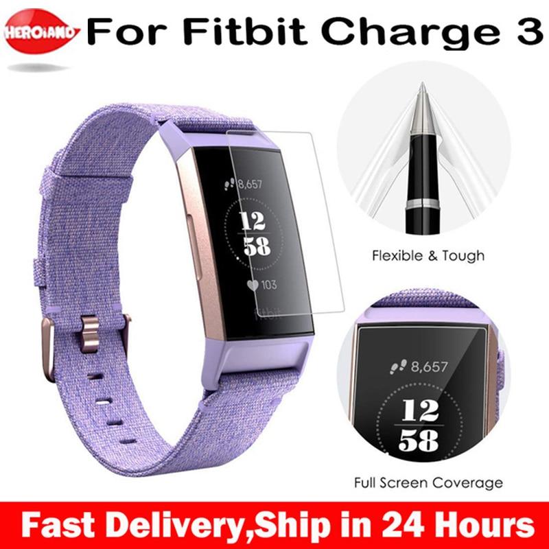 Película protectora HD para Fitbit Charge 3, protectores de pantalla de TPU antiarañazos Charge3 para Fitbit Charge 3