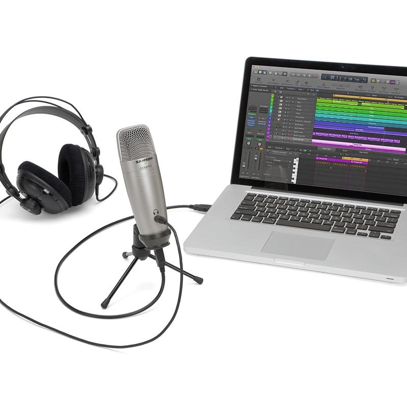 Конденсаторный микрофон Samson C01U Pro, студийный USB микрофон для профессионального радио-рекордера, записи голоса, работы