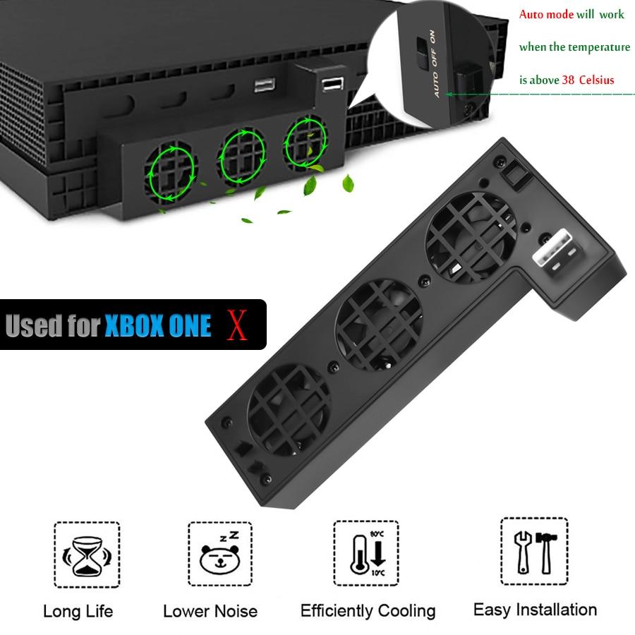 Súper ventilador de refrigeración para XBOX ONE X, ventilador de refrigeración de velocidad externo con puerto USB Extra para Consola Microsoft XBox One X