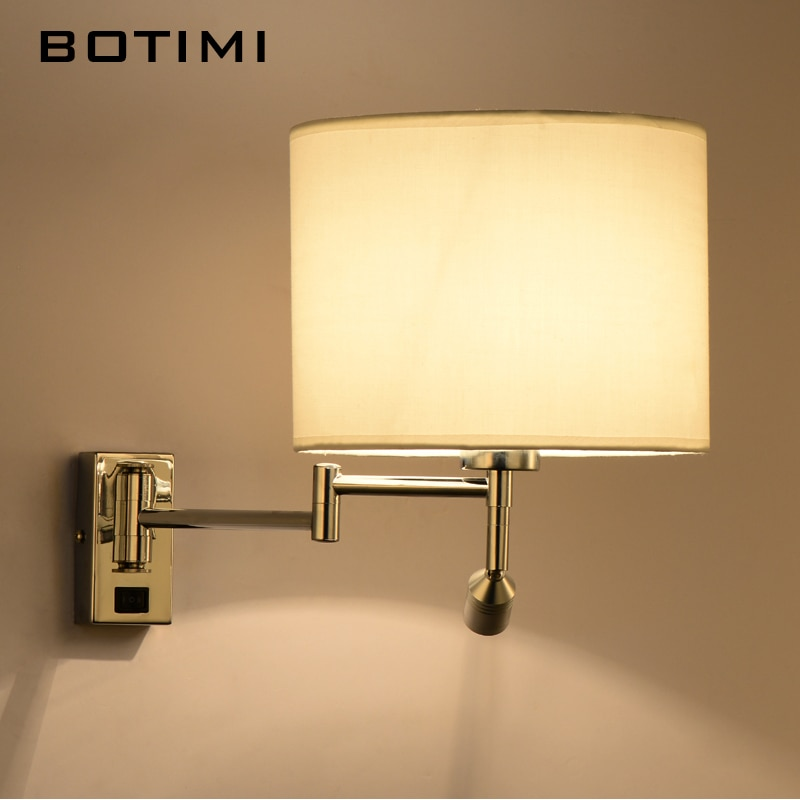 BOTIMI LED السرير الجدار مصباح لغرفة المعيشة زين Murale الإنارة غرفة نوم الجدار الشمعدان الحديثة فندق إضاءة مشروع