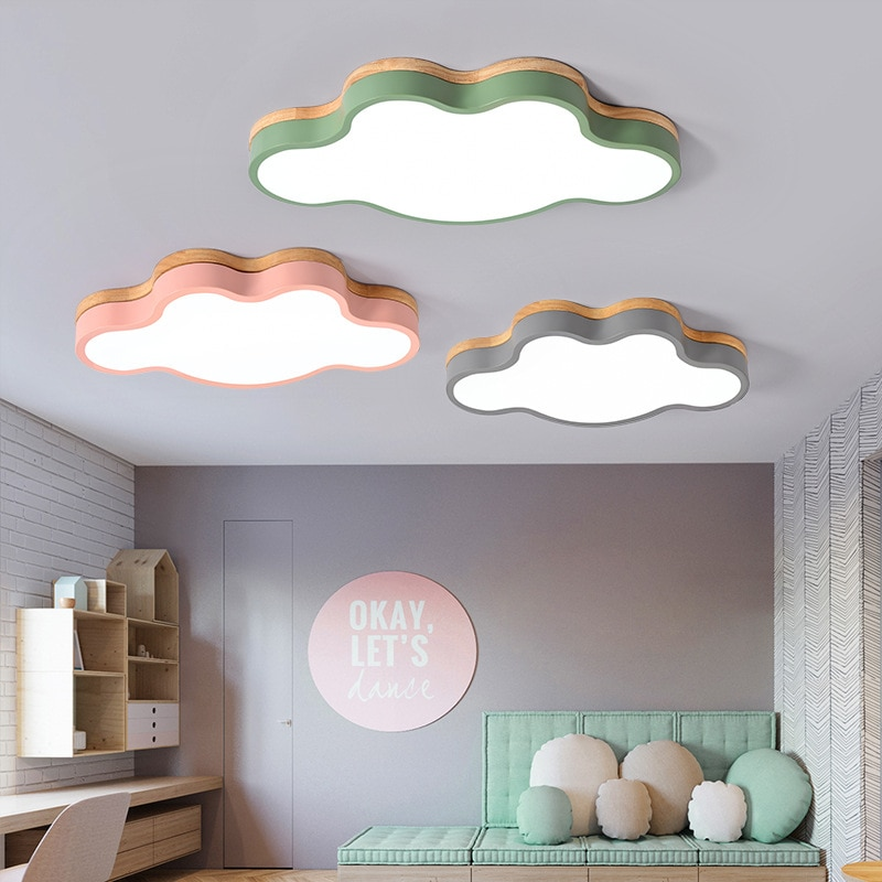 Moderne nordique Design LED plafonnier lampe pour salon cuisine enfants chambre Loft décor bébés chambre 220V 110V