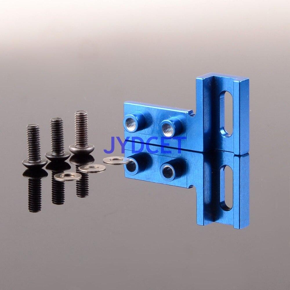 Servo de aluminio azul de montaje RC Racing 1/10 para GPM TAMIYA CC01 CC-01 # CC024