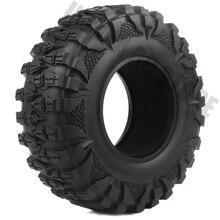 "4 unids/set 2,2 ""de goma de 120 MM barro gancho neumáticos de rueda para 1/10 RC Crawler coche Traxxas TRX-4 Axial SCX10 SCX10 II 90047"