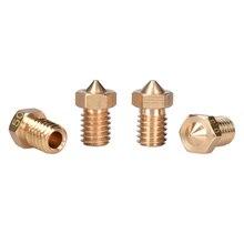 3D V6 buse V6 j-head Hotend extrudeuse Reprap imprimante 3D buse en laiton 0.2/0.25/0.3/0.4/0.5/0.6/0.8/1.0MM pour Filament 1.75mm