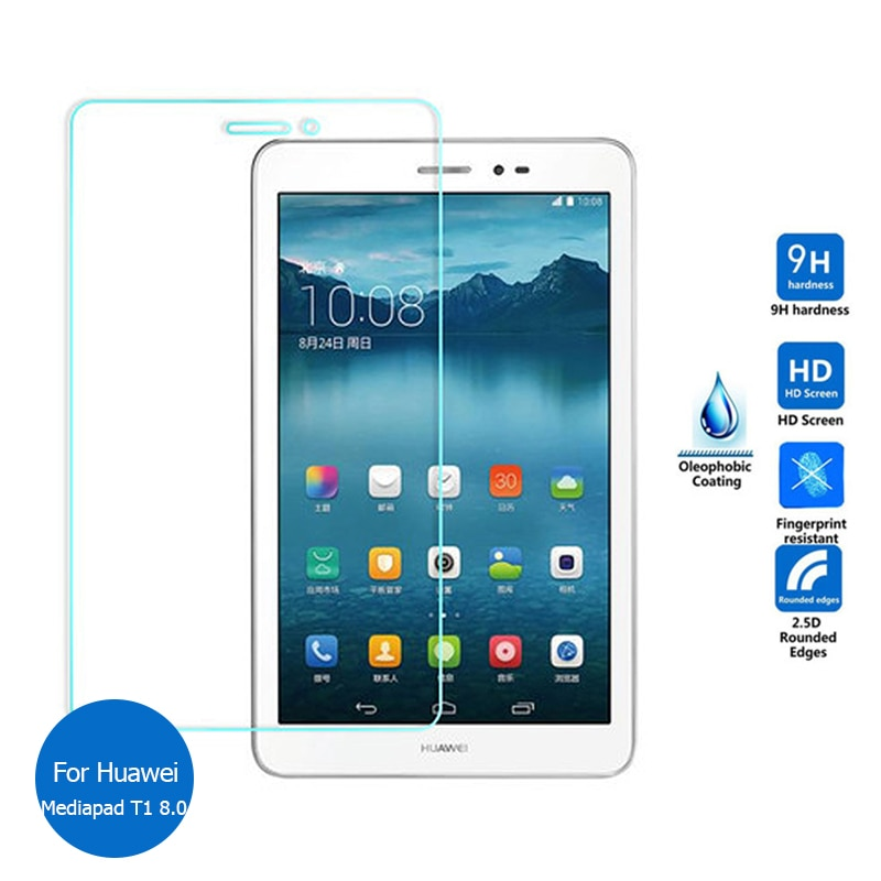 Tempered Glass Screen Protector For Huawei Mediapad T1 8.0 Safety Protective Glass on Media pad T 1 T1-821L 821L