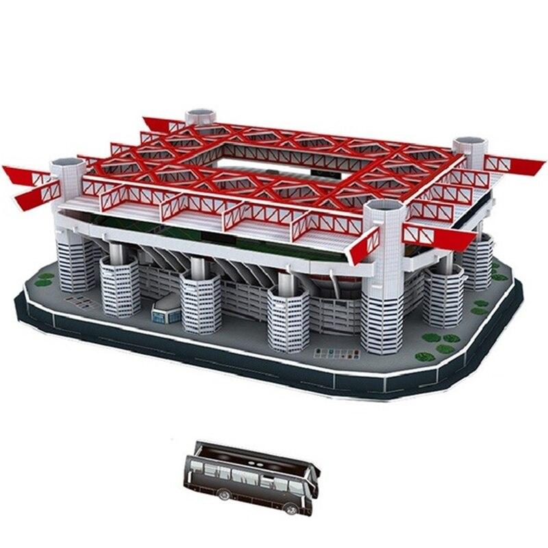 Puzzle classico catenaccio, giocattoli in scala, modelli in scala, carta da costruzione