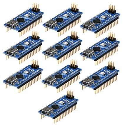 Compatível com o para Nano Controlador Arduino Atmega328p Motorista Ch340 Usb V3.0 Frete Grátis Hot Sale10pcs 3.0