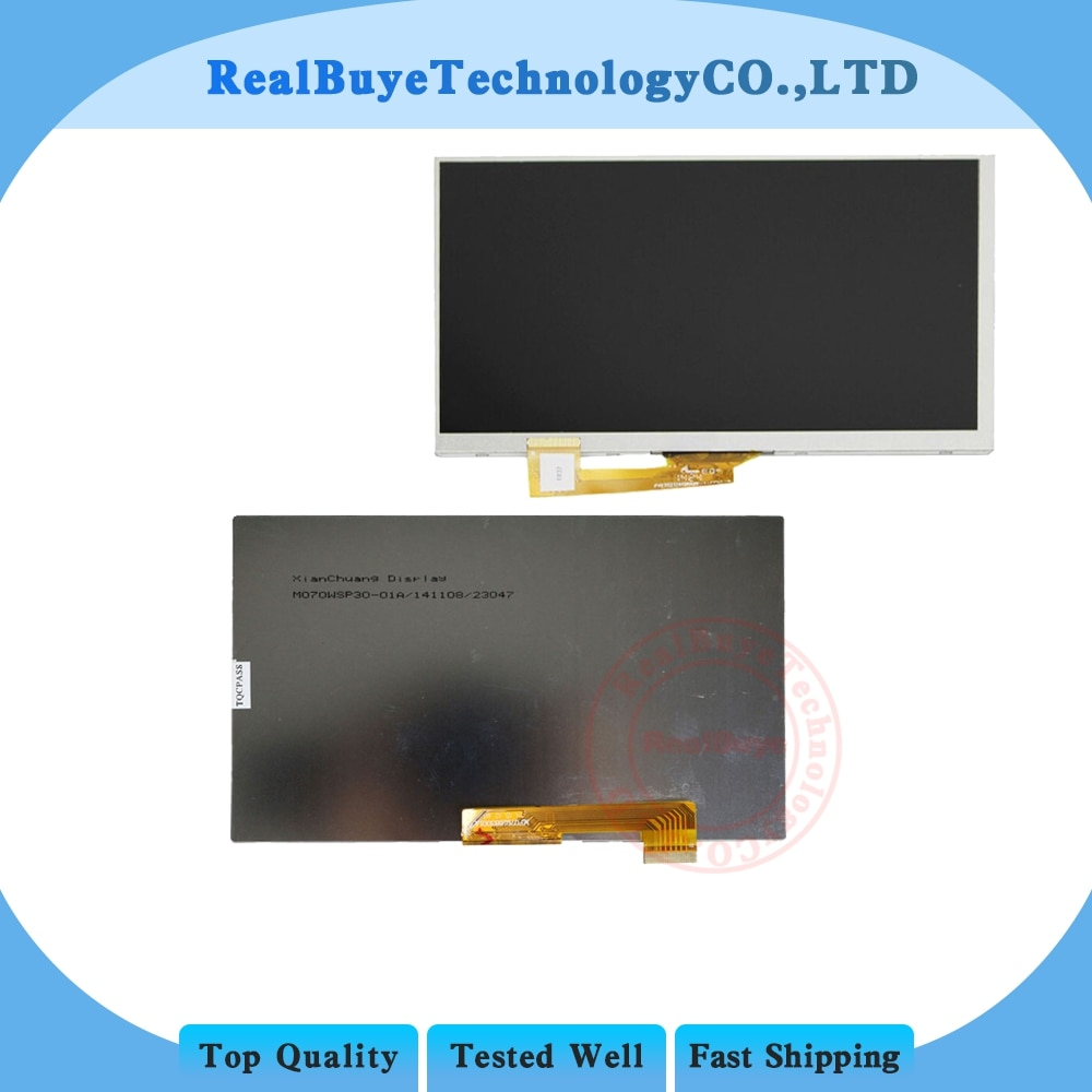 "+ Pantalla LCD de matriz para 7 ""Prestigio MultiPad zabio 3037 3G PMT3037 TABLET 30pin LCD Panel de pantalla lens replacement"