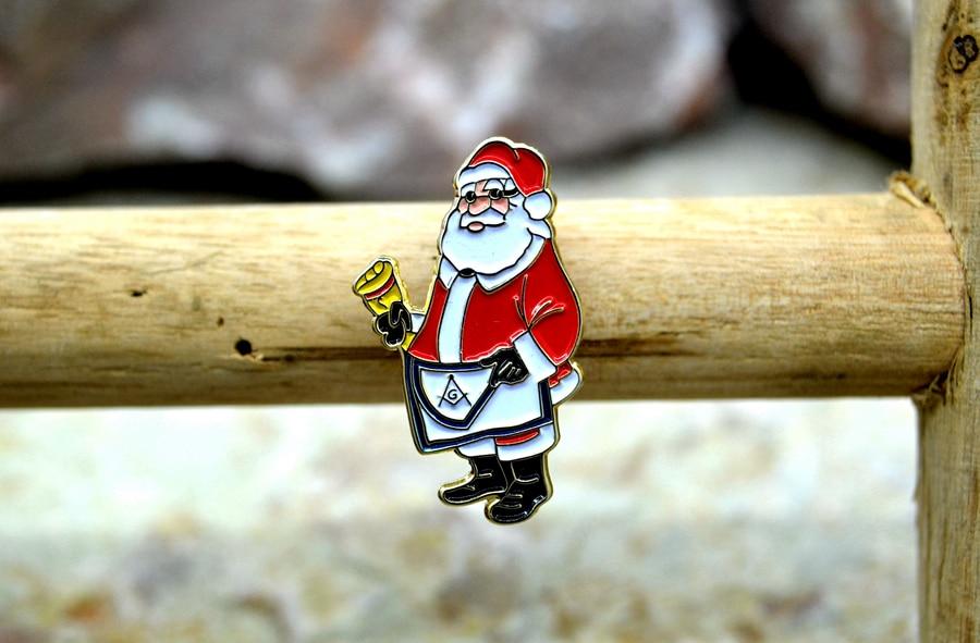 Masonic Lapel Pins Badge Mason Freemason  B58 Santa Claus scotland apron1.5 and 2.6cm