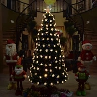big christmas tree fiber optic led artificial chrismas tree greenblack leaf pvc christmas tree set decorations for home market