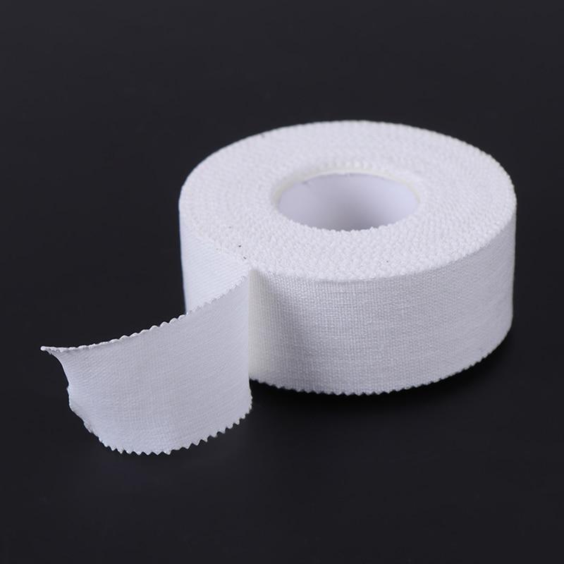 Cinta adhesiva Premium blanca de algodón de 10M para uso médico, banda elástica para músculo, vendaje para lesiones deportivas