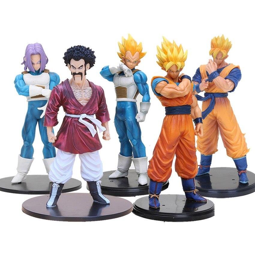 18-20cm de Dragon Ball Z figura de acción de resolución de los soldados Super Saiyan Goku Gohan Vegeta Hercule bañadores ROS DBZ figures