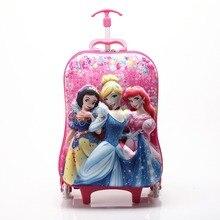 ثلاثية الأبعاد البثق إيفا الطفل الأمتعة 16 بوصة الكرتون الاطفال تسلق الدرج المتداول حقيبة السفر المنتقمون الأطفال حقيبة تروللي بعجلات