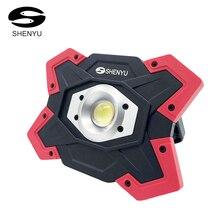 SHENYU LED Camping Laterne Zelt Taschenlampe 10w 12v USB Aufladbare Power Bank Such 18650 Batterie Scheinwerfer Tragbare Lampe