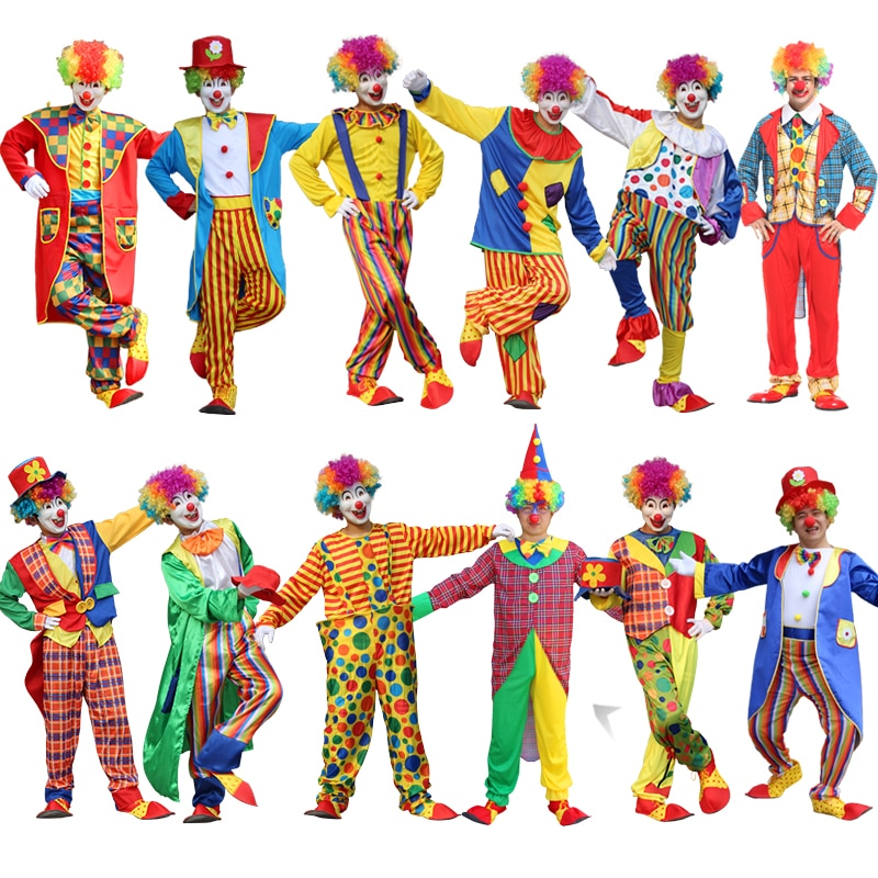Halloween men costumes Funny Circus  Naughty Harlequin Uniform men costume Fancy Dress Cosplay for adult Men Women Clown Costume pennywise costume stephen king s it scary clown mask costume adult men women horror halloween pennywise the clown costume