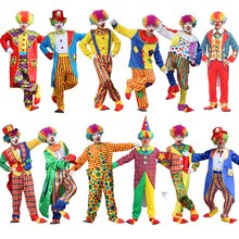 Disfraz de Halloween para hombre, disfraz divertido de circo, disfraz de arlequín travieso para hombre, disfraz de payaso para hombre y mujer
