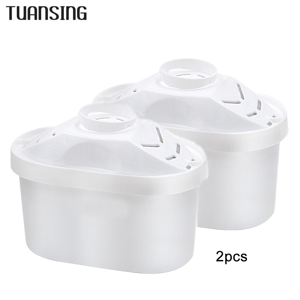 Reemplazo de filtros de agua TUANSING 2 unids/lote para reemplazo de filtro de jarra de agua Brita uso General Activar Filtro de agua de carbono