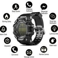 Bluetooth часы EX16 Смарт-часы с уведомлением дистанционное управление, шагомер спортивные часы IP67 водонепроницаемые мужские наручные часы