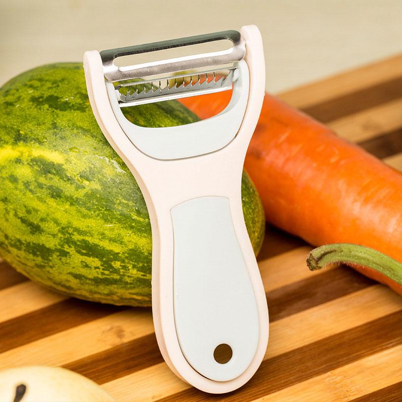 2 en 1 verduras fruta Peeler Zester quitar la piel y rallador de cocina Gadget herramientas accesorios cuchillo nabo cortador
