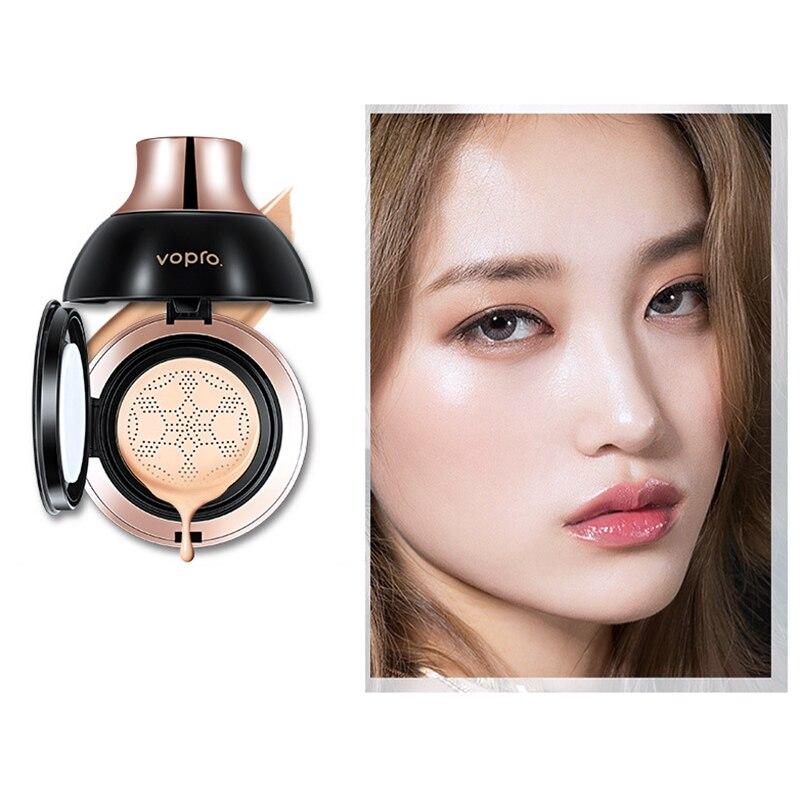 Vopro pequeño seta cabeza aire cojín Bb crema corrector maquillaje hidratante Cc crema Color Natural