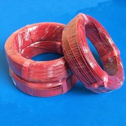 O envio gratuito de 100 m silicone 24k cabo aquecimento piso radiante fibra carbono cabo elétrico vermelho uso da agricultura aves