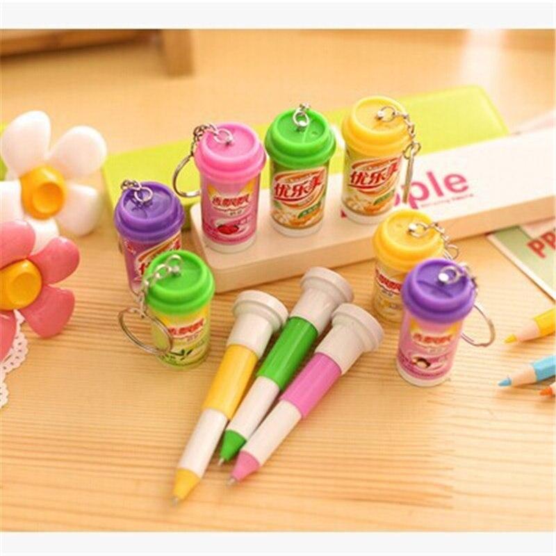 DL la nueva D502 Youlemei Corea papelería creativos de los fabricantes que venden taza de té latas telescópica bola bolígrafo, papelería de oficina sup