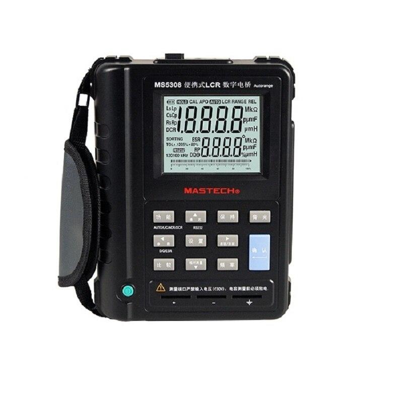 Mastech MS5308 LCR Meter Portable Handheld Auto Range LCR Meter High-Performance 100Khz mastech meter mastech ms5308