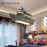 remote controlled UFO chandelier children's room boy bedroom LED flying saucer lights creative cartoon spacecraft Chandelier