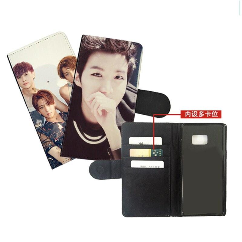 Funda tipo billetera de cuero con diseño personalizado para teléfono móvil, Funda personalizada para samsung galaxy note 2 3 4 5 7 8 9 10 plus