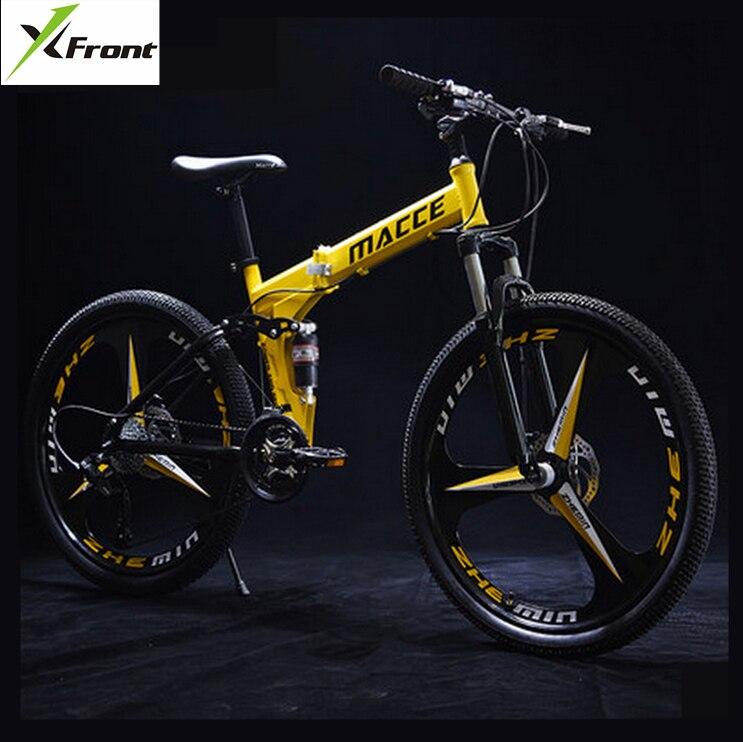 Nueva rueda de acero al carbono de 24/26 pulgadas, bicicleta de montaña de velocidad 21/24/27, bicicleta de descenso al aire libre, bicicleta de disco de freno, bicicleta plegable