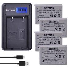 4 pièces EN-EL5 ENEL5 EL5 batterie + LCD USB chargeur pour Nikon Coolpix P4 P80 P90 P100 P500 P510 P520 P530 P5000 P5100 5200 P6000