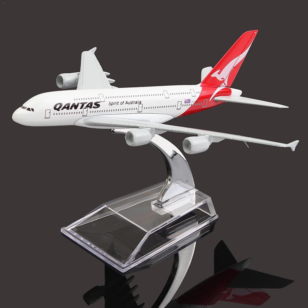 A380 AUSTRALIEN QANTAS Sammlung Modell 16CM Flugzeug Metall Flugzeug Modell Flugzeug Modell Gebäude Kits Spielzeug Für Kinder