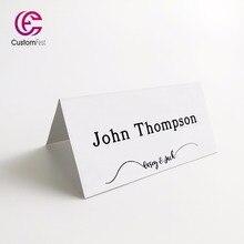 50 unids/lote Tarjeta de nombre de lugar personalizada para fiesta y boda diseño simple MK022