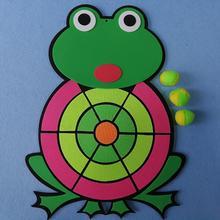 Dessin animé Animal grenouille balle collante cible fléchette conseil lancer jeu volant ensemble de jouets pour enfants sécurité jouet cadeaux nouveau