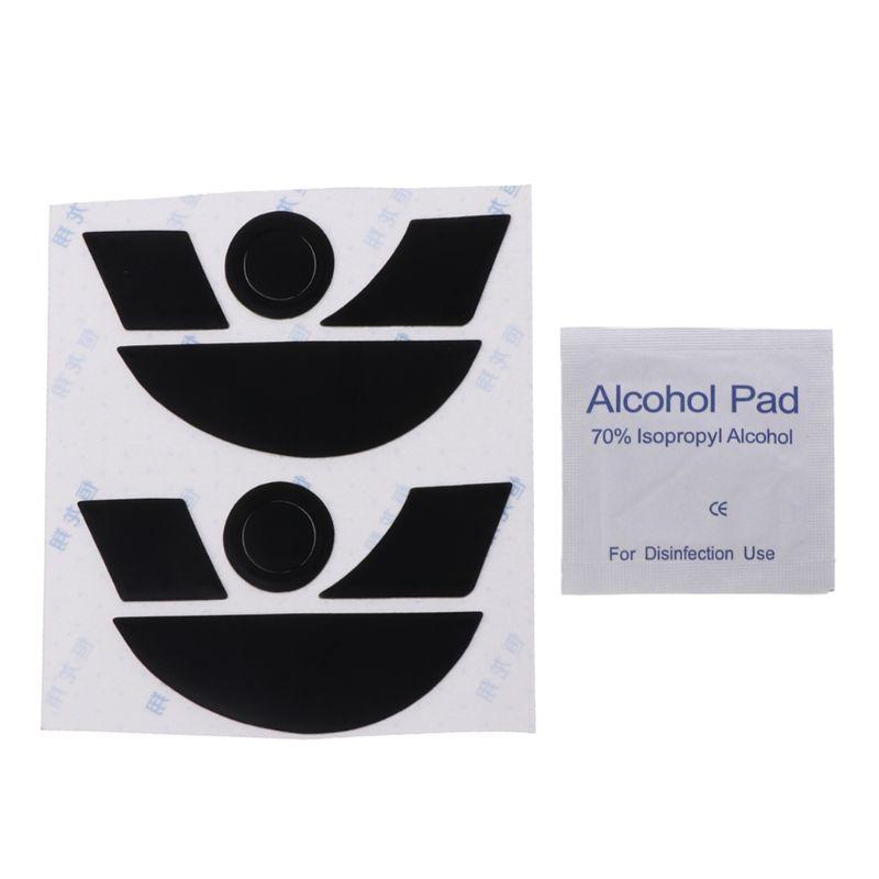 2 Sets 0.6mm Teflon Mouse Skates Mouse Stickers Pad For Razer Naga 2014 Mouse Sticker Accessories