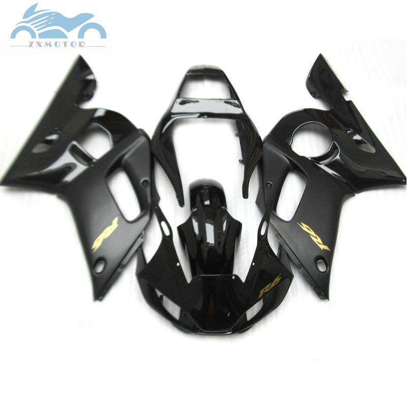 Upgrade your fairings kit for YAMAHA R6 YZFR6 1998 2000 2001 2002 YZF R6 98-02 matte black plastic fairing kits bodyworks EB43