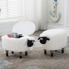 Creatieve lam verandering schoenen kruk make-up kruk dressing kruk opslag sofa wasbare voetenbank